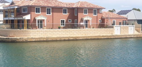 Commercial Limestone Wall Project Mandurah Canals